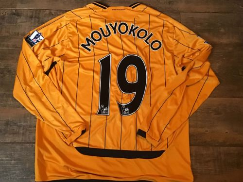 2009 2010 Hull City Mouyokolo Match worn Home Football Shirt
